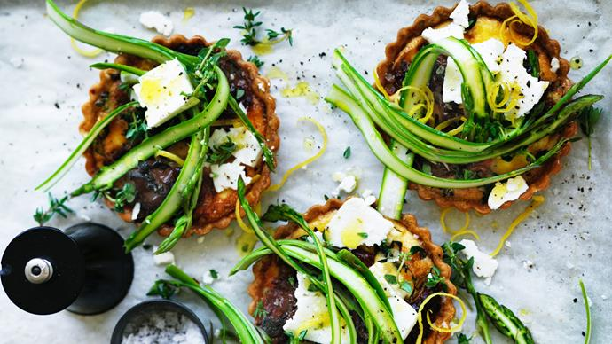 sun-dried tomato and asparagus tart