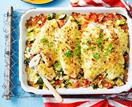 Snapper and tomato tray bake