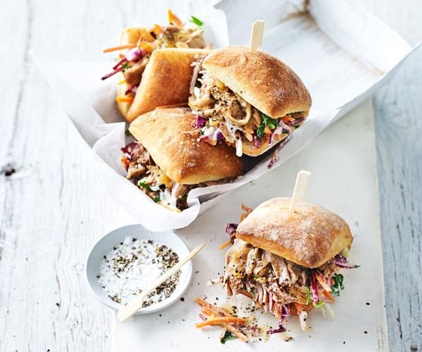 Ginger beer pulled pork rolls