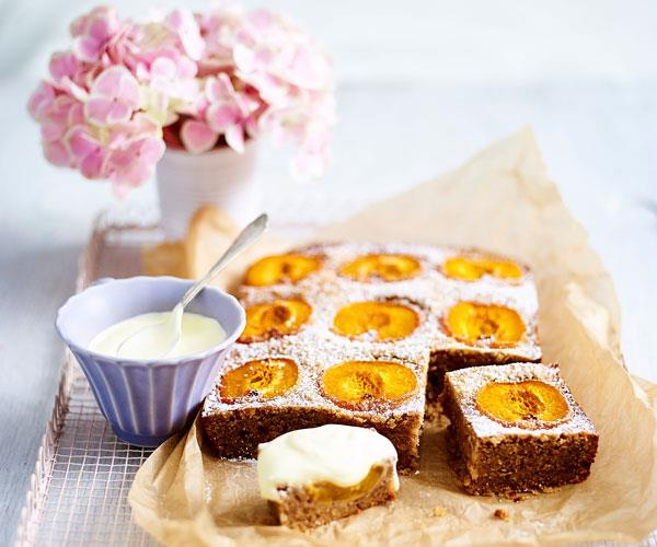 Nutty apricot cake