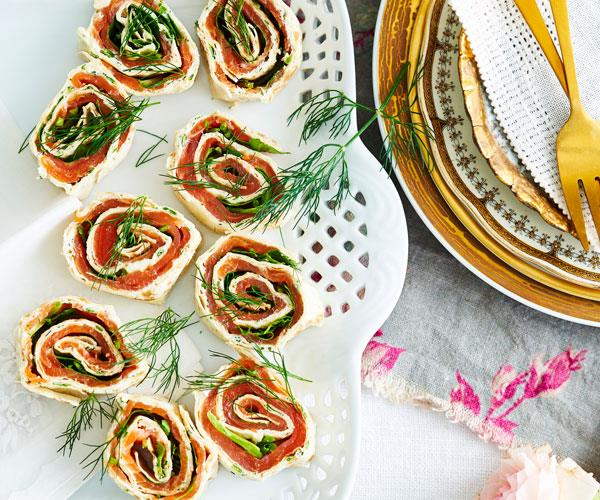 "Serve some easy elegance at your next party with these [smoked salmon and herb pinwheels](https://www.womensweeklyfood.com.au/recipes/smoked-salmon-and-herb-pinwheels-31323|target=""_blank"")."