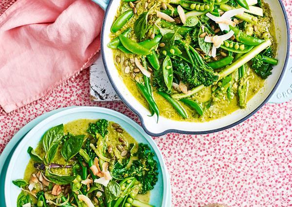 Very green veggie curry
