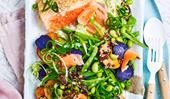 Ocean trout salad with edamame miso dressing