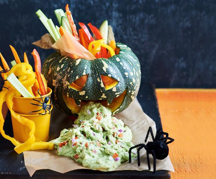guacamole pumpkin monster