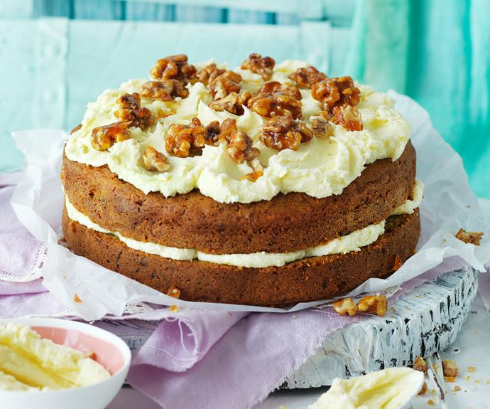 """You will love this [spiced carrot cake](https://www.womensweeklyfood.com.au/recipes/carrot-cake-with-cream-cheese-frosting-18234
