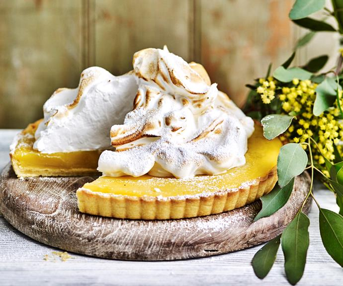 "**[Lemon meringue pie](https://www.womensweeklyfood.com.au/recipes/lemon-meringue-pie-11625|target=""_blank"")**  The buttery [pastry dough](https://www.womensweeklyfood.com.au/different-pastry-types-dough-1317