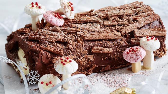easy festive yule log