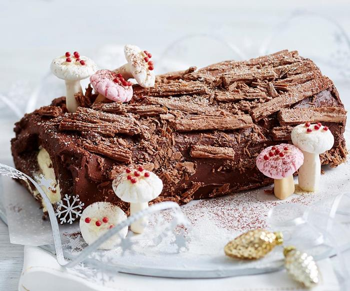 easy festive yule log