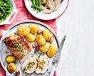 Turkey with apricot & hazelnut stuffing