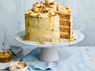 Coconut banana stacked cake