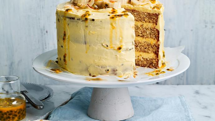 Coconut banana stacked cake