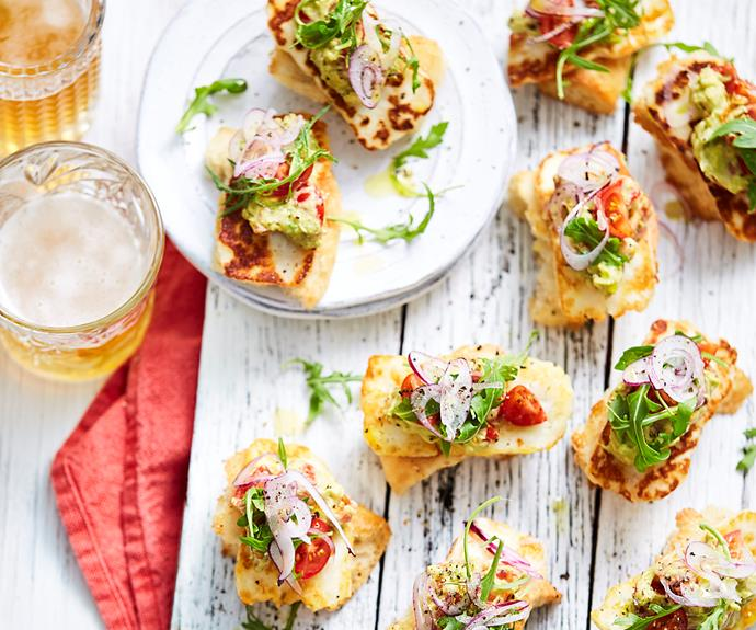 "Excite your taste buds with this fresh and delicious [haloumi and avocado bruschetta](https://www.womensweeklyfood.com.au/recipes/haloumi-and-avocado-bruschetta-28734|target=""_blank""). It makes a brilliant snack, light lunch or dinner or starter to a dinner spread."