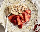 Christmas fruit mince semifreddo with strawberries