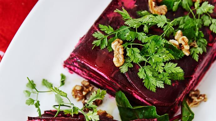 Julie Goodwin's roast beetroot and goat's cheese terrine