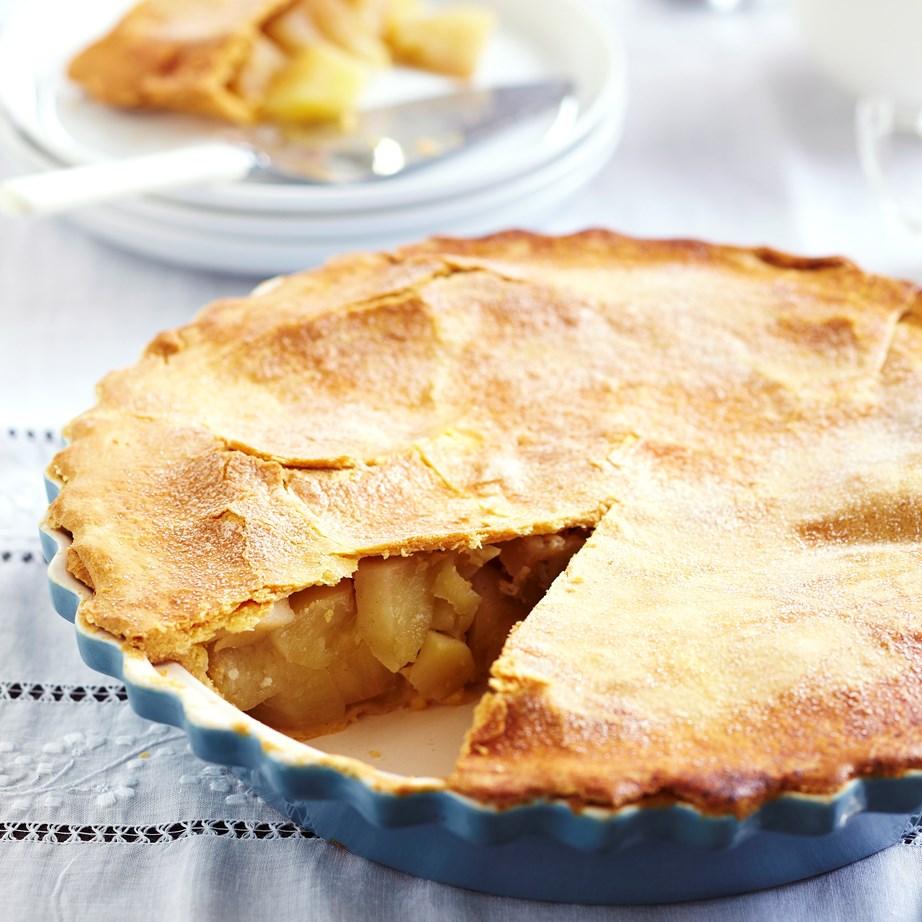 "**[Apple pie](https://www.womensweeklyfood.com.au/recipes/apple-pie-12685|target=""_blank"")**"