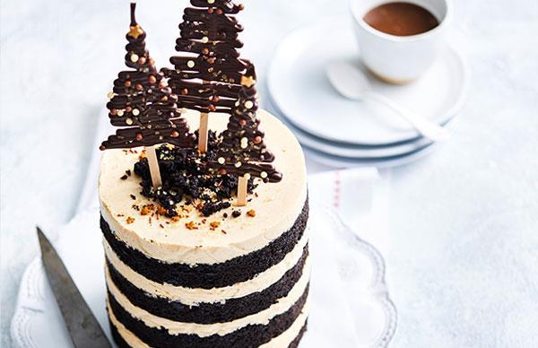 Eggnogg bavarois cake
