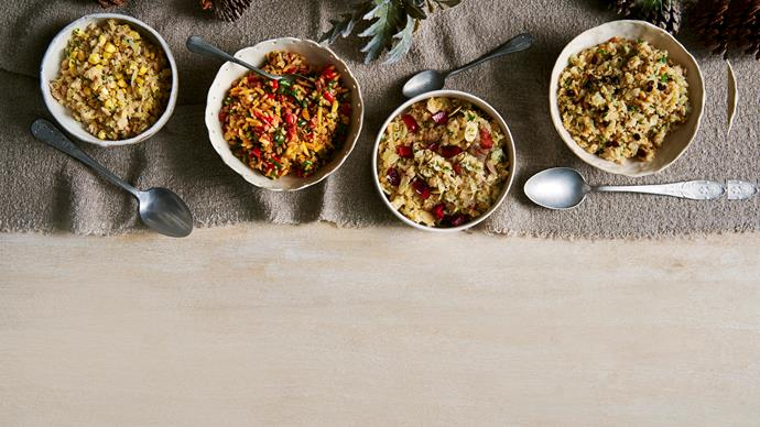 4 stuffing dishes