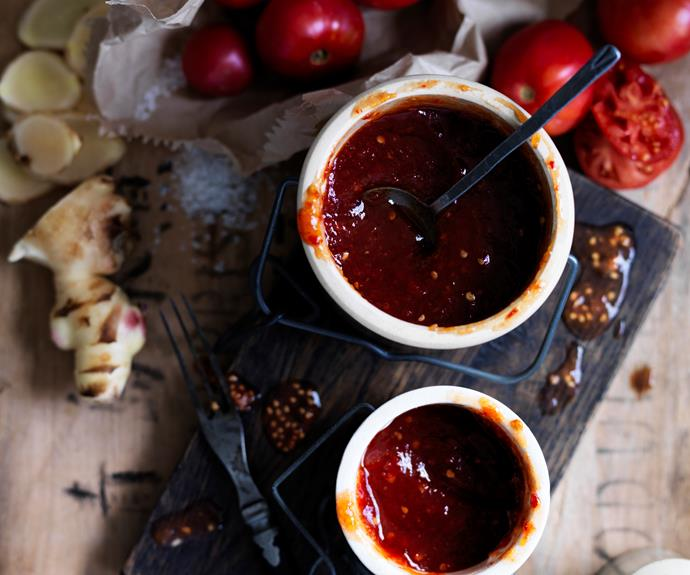 """**[Tomato and chilli jam](https://www.womensweeklyfood.com.au/recipes/tomato-chilli-jam-9578