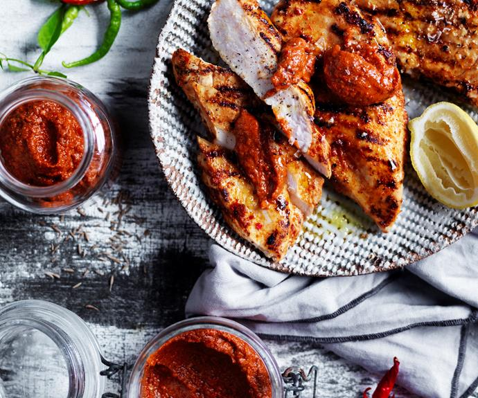 "**[Harissa spice paste](https://www.womensweeklyfood.com.au/recipes/harissa-10700|target=""_blank"")**  This fiery chilli paste is responsible for the kick to many North African dishes and can also be used as a condiment for grilled fish and meat."