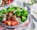 Lamb kofta with yoghurt