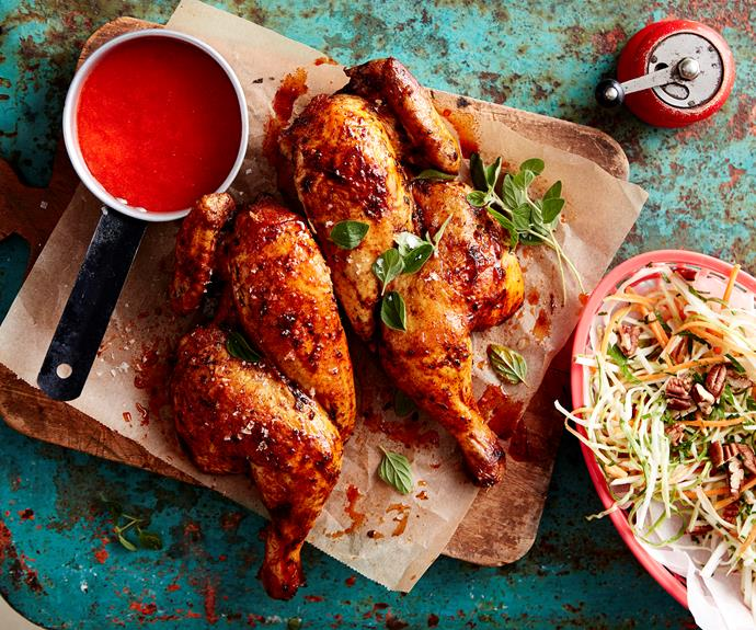 "**[Paprika chicken with chilli sauce](https://www.womensweeklyfood.com.au/recipes/paprika-chicken-with-chilli-sauce-4250|target=""_blank"")**  This smoky barbecued chicken gets a real fiery kick from the homemade chilli sauce."