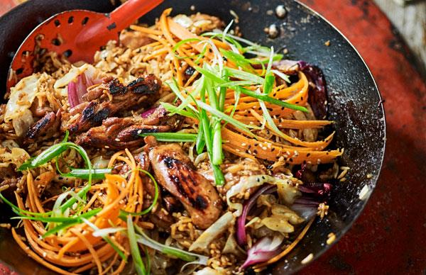 Korean-style barbecued chicken rice