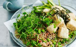 Japanese-style tofu salad