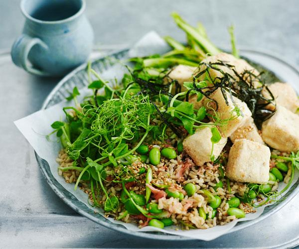 "Sometimes you've just gotta try something new. This easy [Japanese-style tofu salad](https://www.womensweeklyfood.com.au/recipes/japanese-style-tofu-salad-31488|target=""_blank"") is full of fresh flavours that will make you happy you did."
