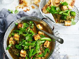 Broccoli and paneer saag curry