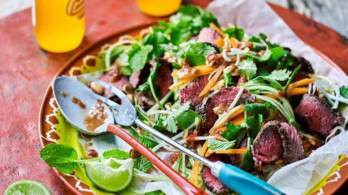 Chilli tamarind beef & pickled vegetable salad