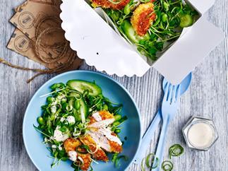 Sesame chicken katsu salad