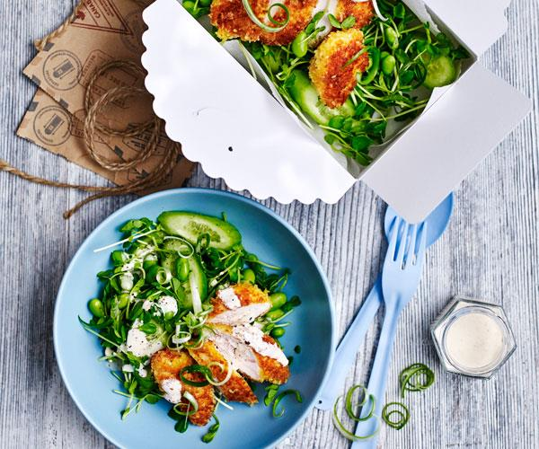 """**[Sesame chicken katsu salad](https://www.womensweeklyfood.com.au/recipes/sesame-chicken-katsu-salad-31527