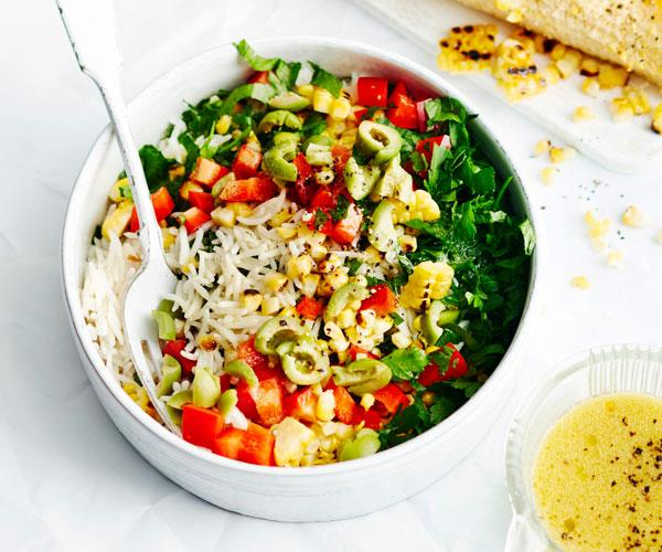 "This [rice salad](https://www.womensweeklyfood.com.au/recipes/rice-salad-31528|target=""_blank"") is perfect for hot summer days - it's refreshing, crunchy and very simple to prepare."