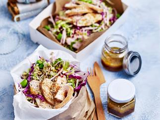 Barley, chicken and sesame slaw