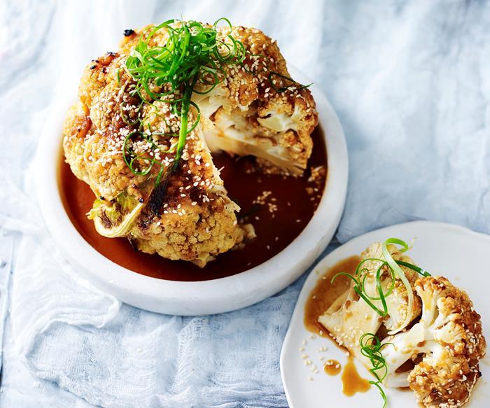 Roasted cauliflower with miso glaze