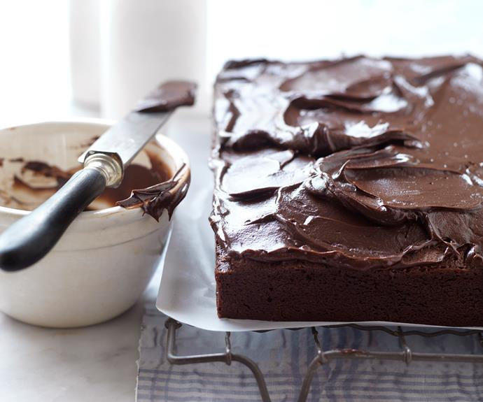 "This [dark chocolate mud cake](https://www.womensweeklyfood.com.au/recipes/dark-chocolate-mud-cake-10167|target=""_blank"") makes a simple treat on its own but is also excellent layered with chocolate ganache or other frosting."