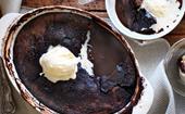 Classic chocolate self-saucing pudding