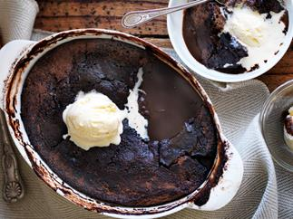 Classic chocolate self-saucing pudding