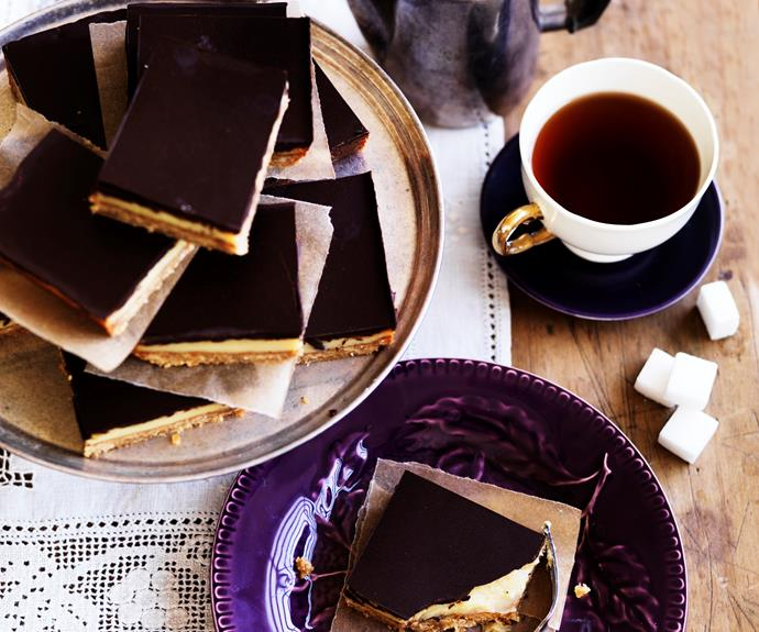 """**[Caramel slice](https://www.womensweeklyfood.com.au/recipes/caramel-slice-11734
