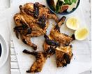 Portuguese chickens with fig salad