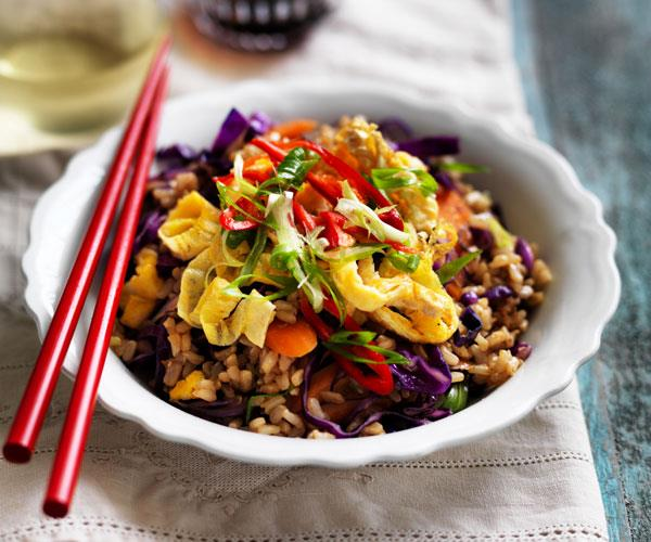 "**[Brown fried rice with carrot, cabbage and red onion](https://www.womensweeklyfood.com.au/recipes/brown-fried-rice-31545|target=""_blank"")**  Fried rice has been given a healthy boost with the use of brown rice and lots of fresh vegetables."