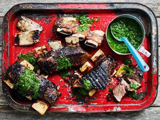 Beef short ribs with chimchurri