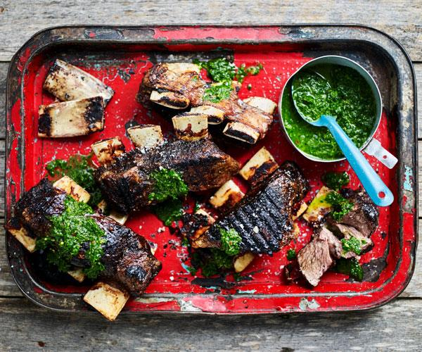Beef short ribs with chimchurri