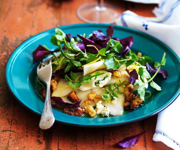 Watercress and goat's cheese ravioli