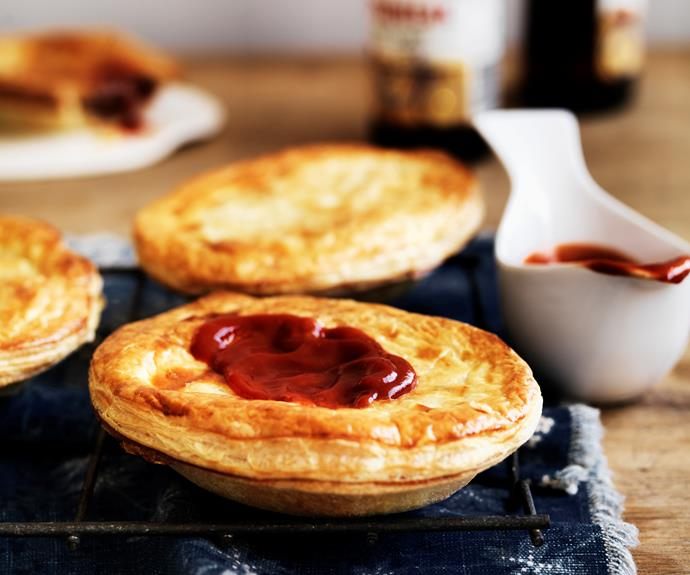 """Nothing beats a hot [meat pie](https://www.womensweeklyfood.com.au/recipes/meat-pies-9173