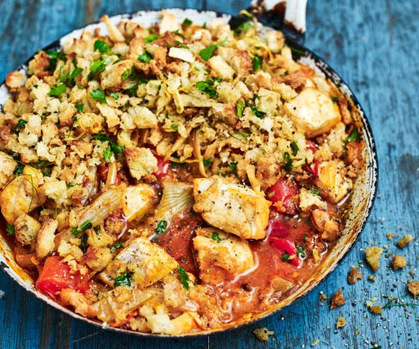 "**[Mediterranean fish pie](https://www.womensweeklyfood.com.au/recipes/mediterranean-fish-pie-31569|target=""_blank"")**  The pangrattato, toasted bread crumbs in Italian, adds a delightful crunch and paired tender fish and Mediterranean spices creates the perfect fish pie."