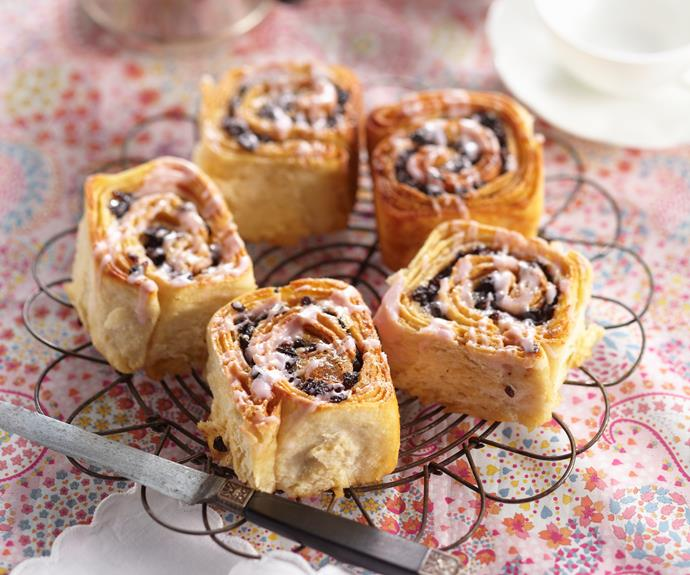 """**[Chelsea buns](https://www.womensweeklyfood.com.au/recipes/chelsea-buns-8535 target=""""_blank"""")** were created by a baker at the Chelsea bun house several hundred years ago. If you're not a fan of currants, swap them for chopped mixed nuts or other dried fruit, such as tropical fruit mix."""