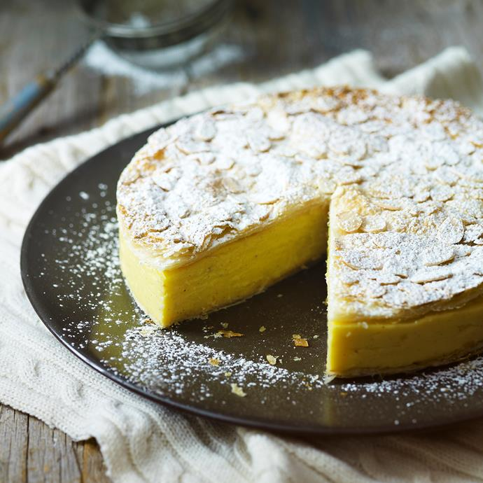 "The crispy pastry coupled with the gelatinous filling is a texture sensation with great flavours in this [custard pie recipe](https://www.womensweeklyfood.com.au/recipes/vanilla-custard-pie-9935|target=""_blank""). A dessert to die for!"