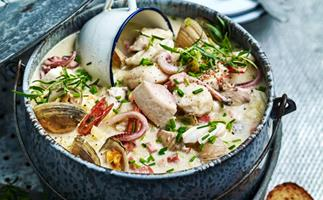 Sustainable seafood chowder