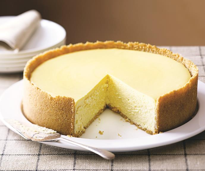 "**[New York cheesecake](https://www.womensweeklyfood.com.au/recipes/new-york-cheesecake-12676|target=""_blank"")**  When it comes to cheesecake, we prefer to stick to the classics. This is the original, and still the best version of this gooey dessert."
